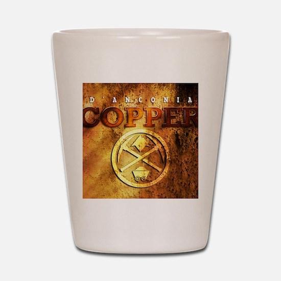 dAnconia Copper Shot Glass
