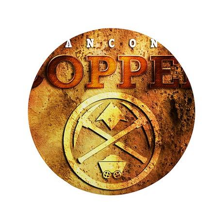 """dAnconia Copper 3.5"""" Button"""