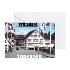 Flags of Switzerland Greeting Card