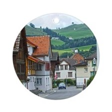 Streets of Appenzell Round Ornament