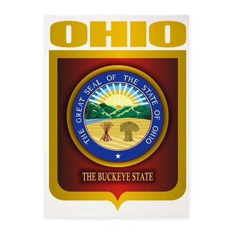 Ohio State Seal B 5 X7 Area Rug By Admin Cp10516147