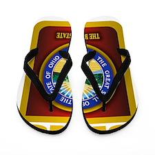 Ohio State Seal (B) Flip Flops
