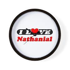 I Love Nathanial Wall Clock