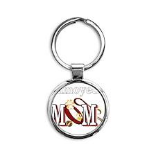 Samoyed Mom Round Keychain
