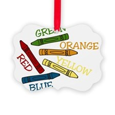 Colored Crayons Ornament