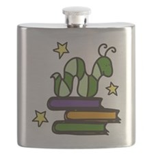 Books And Worm Flask