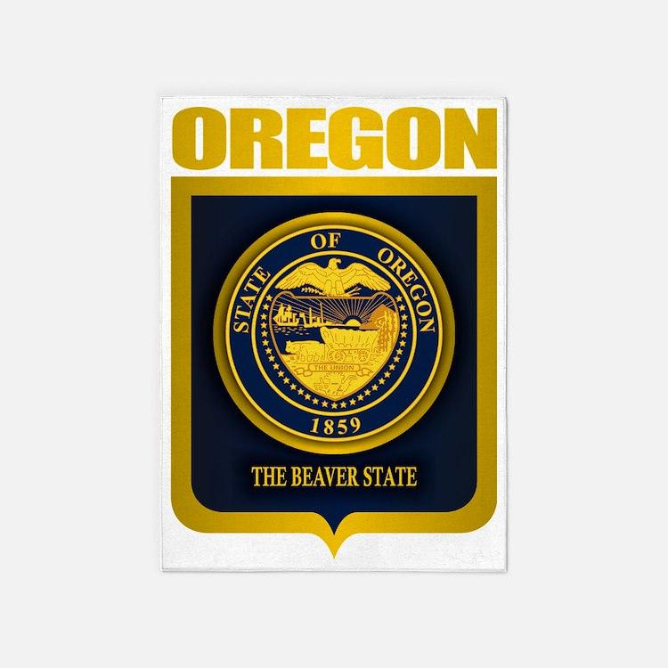Oregon State Seal (B) 5'x7'Area Rug