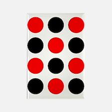 Red  Black Checkers Designer Rectangle Magnet