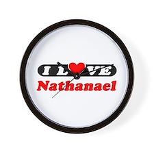 I Love Nathanael Wall Clock