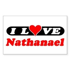 I Love Nathanael Rectangle Decal