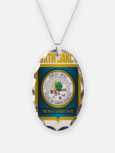 North Dakota Seal (B) Necklace