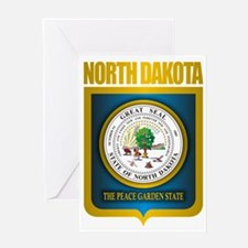 North Dakota Seal (B) Greeting Card