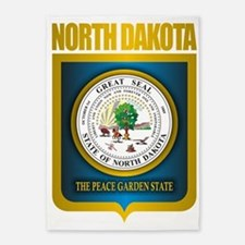 North Dakota Seal (B) 5'x7'Area Rug