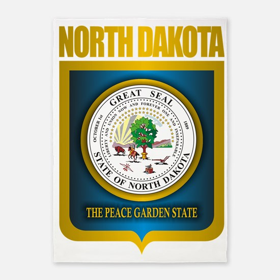 North Dakota Seal (B) 5'x7'Area Rug