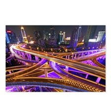 Highway intersection at n Postcards (Package of 8)