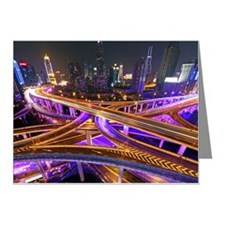 Highway intersection at nigh Note Cards (Pk of 20)