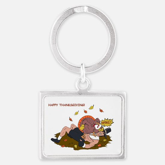 MMA Thanksgiving  Turkey! Landscape Keychain
