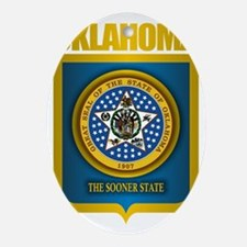 Oklahoma State Seal (B) Oval Ornament