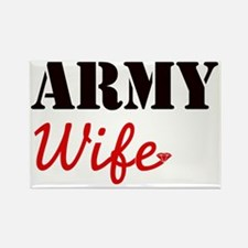Cute Army Wife Rectangle Magnet