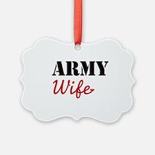 Cute Army Wife Ornament
