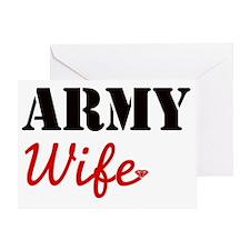 Cute Army Wife Greeting Card
