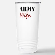 Cute Army Wife Travel Mug