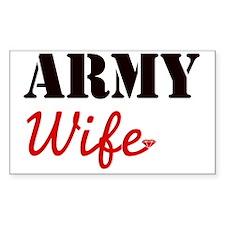 Cute Army Wife Decal