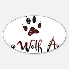 My Wolf Awaits Sticker (Oval)