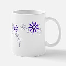 Purple Floral Garland Designer Mug