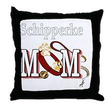 Schipperke Mom Throw Pillow