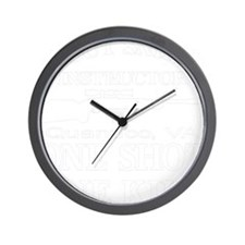 Scout Sniper Instructor Wall Clock