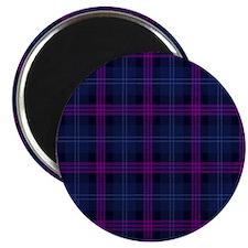 purple tartan Magnet