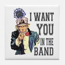 Uncle Sam Band Tile Coaster