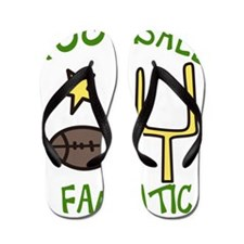 Football Fanatic Flip Flops