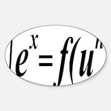 integralfunrectangle Sticker (Oval)