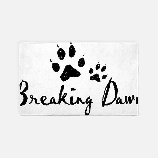 Breaking Dawn Wolf Paws 3'x5' Area Rug