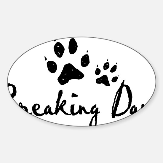 Breaking Dawn Wolf Paws Sticker (Oval)