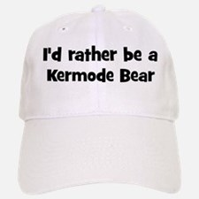 Rather be a Kermode Bear Baseball Baseball Cap