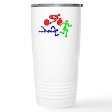 Triathlon Color Figures Travel Mug