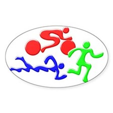 Triathlon Color Figures 3D Decal