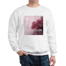 Nature and landscape. Red tree on a lak Sweatshirt