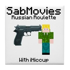 Russian Roulette Tile Coaster