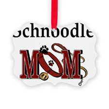 Schnoodle Mom Picture Ornament