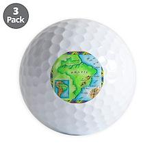 Map of Brazil Golf Ball