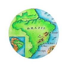 """Map of Brazil 3.5"""" Button"""