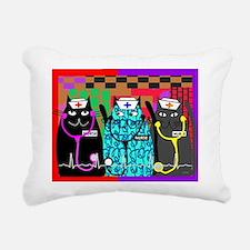 nurse cat blanket Rectangular Canvas Pillow