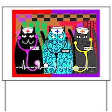 nurse cat blanket Yard Sign