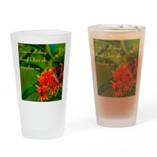 All Things Through Christ Drinking Glass