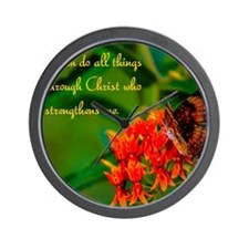 All Things Through Christ Wall Clock
