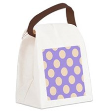 polka dots purple Canvas Lunch Bag
